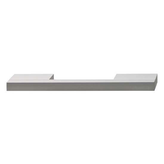 Hafele Isabella Collection Handle in Silver Anodized, 156mm W x 30mm D x 10mm H
