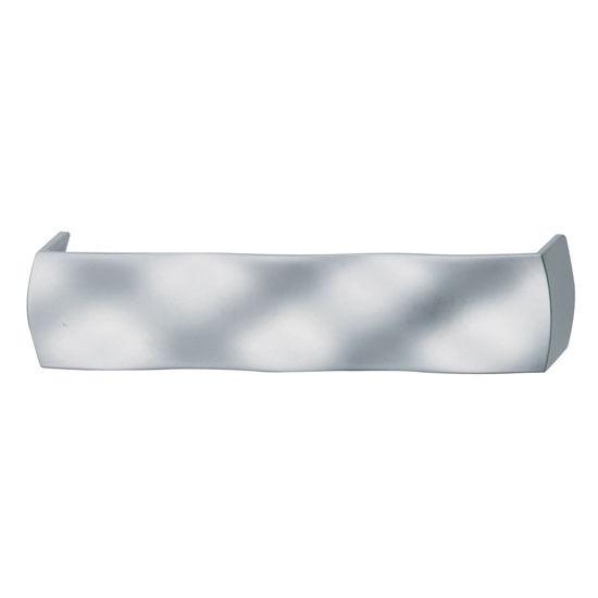 Hafele (5-2/5'' W) Wavy Handle in Matt Chrome, 136mm W x 29mm D x 30mm H