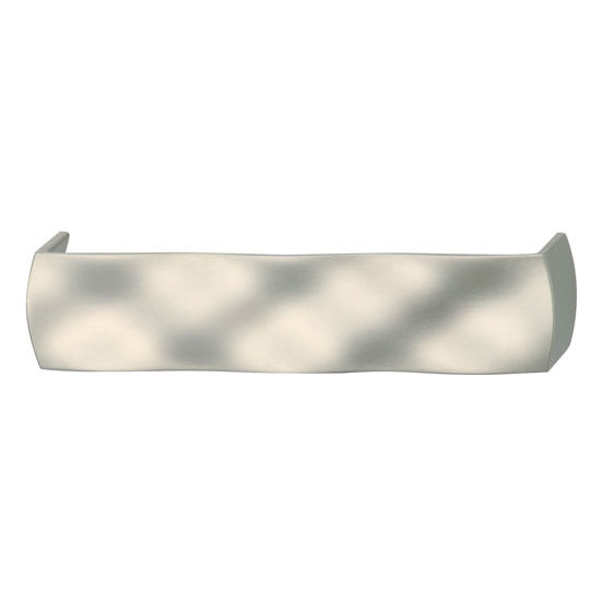 Hafele (5-2/5'' W) Wavy Handle in Matt Nickel, 136mm W x 29mm D x 30mm H