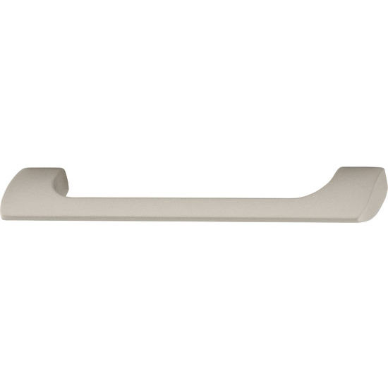 Hafele Antimicrobial Collection 5-3/4'' W Handle in Matt Nickel, 147mm W x 29mm D x 10mm H