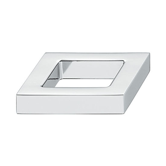 Hafele Nouveau Collection 1-5/8'' W Knob in Polished Chrome, 40mm W x 24mm D x 10mm H