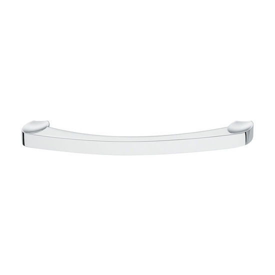 Hafele Nouveau Collection 7'' W Handle in Polished Chrome, 180mm W x 28mm D x 12mm H