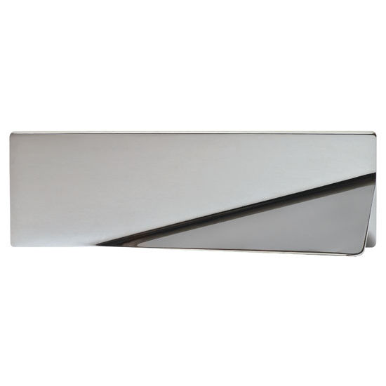 Hafele Bella Italiana Collection 6'' W Handle in Polished Chrome, 150mm W x 24mm D x 50mm H