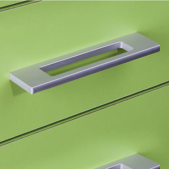 Hafele Resonance Collection Handle in Stainless Steel or Silver Anodized