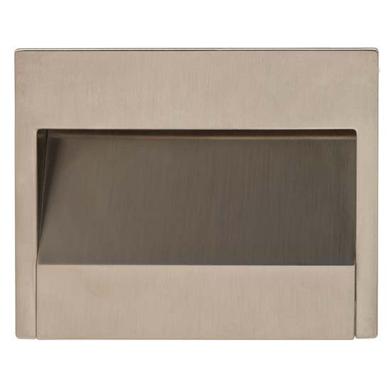Hafele Nuovo Collection Mortise Pull in Stainless Steel, 100mm W x 18mm D x 80mm H
