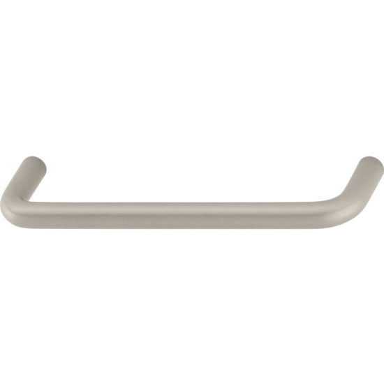 Hafele Antimicrobial Collection 4'' W Handle in Matt Nickel, 103mm W x 28mm D x 7mm H