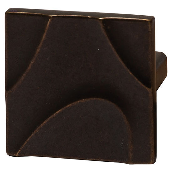 Hafele Breakers Collection 1-7/8'' W Knob in Oil-Rubbed Bronze, 45mm W x 25mm D x 45mm H