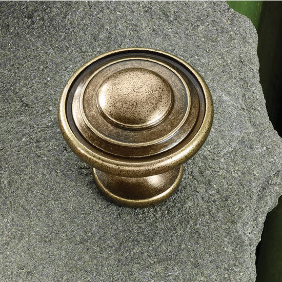 Hafele (1-1/4'') Diameter Round Knob in Antique English, 30mm Diameter x 28mm D x 18mm Base Diameter