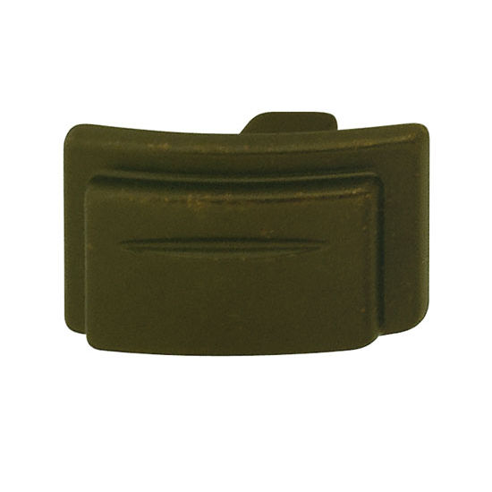 Hafele Hawthorne Collection 1-1/2'' W Rectangular Knob in Oil-Rubbed Bronze, 39mm W x 23mm D x 25mm H