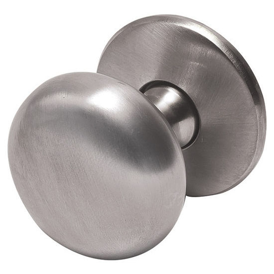 Hafele Mulberry Collection 1-1/4'' Dia. Round Knob in Brushed Nickel, 32mm Diameter x 34mm D x 5mm Base Diameter