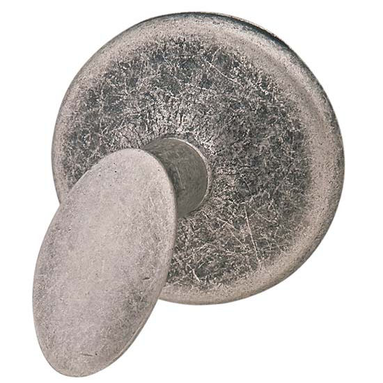 Hafele Bella Italiana Collection Knob in Antique Silver, 40mm Diameter x 29mm D