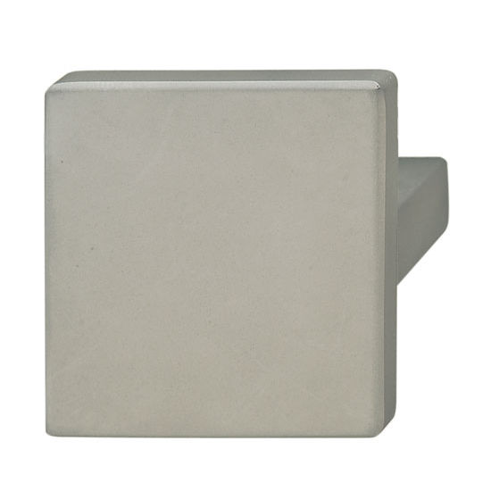 Hafele (1-5/8'' W) Square Knob in Stainless Steel, 40mm W x 30mm D x 40mm H