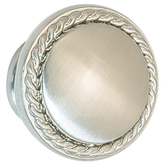 Hafele Americana Collection Knob Brushed Nickel