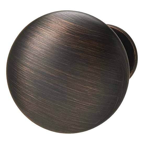 Hafele Chanterelle Collection Mushroom Knob in Satin Bronzed Copper, 30mm W x 28mm D x 17mm Base Diameter