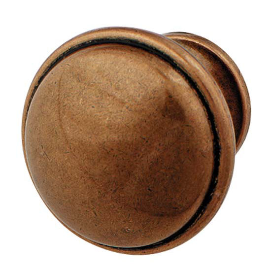 Hafele Luna Collection Knob in Copper, 36mm W x 28mm D x 24mm Base Diameter