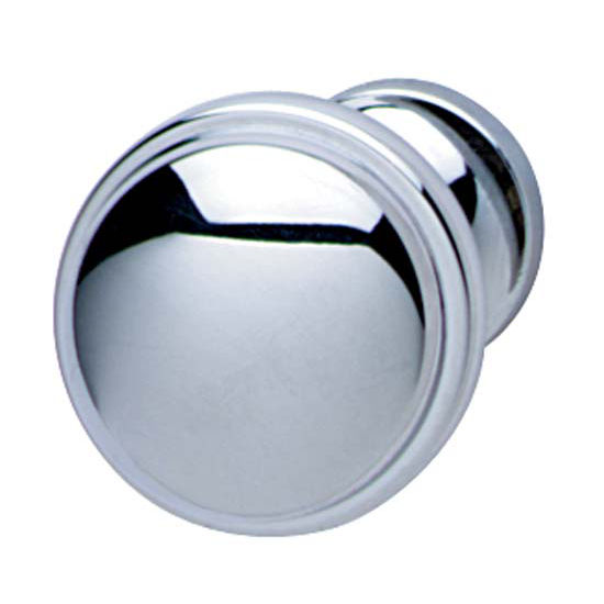 Hafele Bungalow Collection Knob in Polished Chrome, 36mm W x 28mm D x 24mm Base Diameter