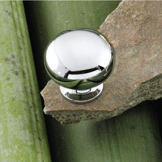 Hafele Windsor Collection 1-1/4'' Dia. Round Knob in Polished Chrome, 31mm Diameter x 29mm D x 19mm Base Diameter