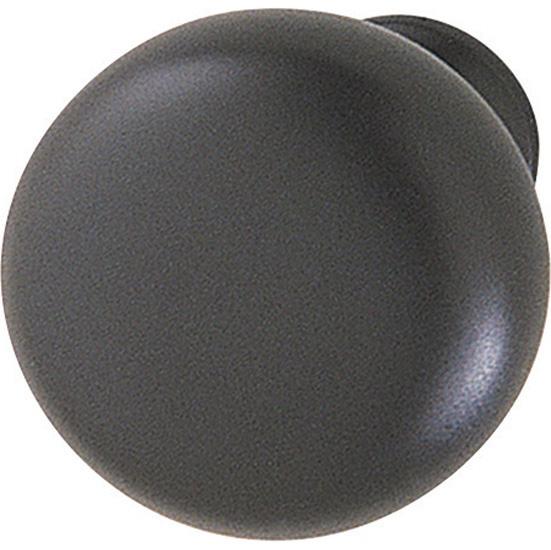 Hafele (1-1/4'') Diameter Mushroom Round Knob in Matt Black, 31mm Diameter x 28mm D x 15mm Base Diameter