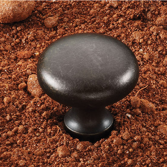 Hafele (1-1/4'') Diameter Mushroom Round Knob in Oil-Rubbed Bronze, 31mm Diameter x 28mm D x 15mm Base Diameter