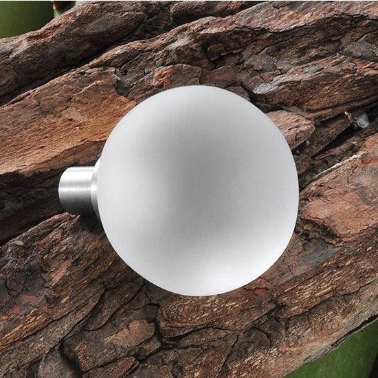 Hafele HA-135.74.412 Matt Glass Round Knob 30mm (1-1/4'') Wide