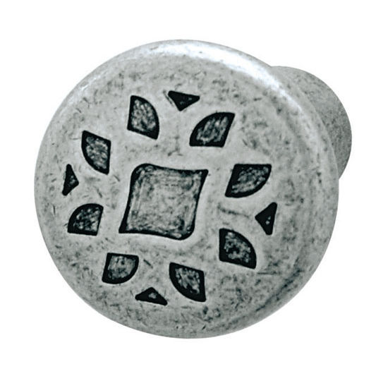 Hafele HA-135.82.900 Traditional Round Knob in Pewter 35mm (1-3/8'') Diameter