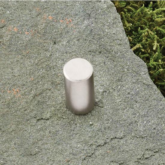 Hafele (1/2'') Diameter Round Knob in Matt Nickel, 12mm Diameter x 25mm D x 12mm Base Diameter