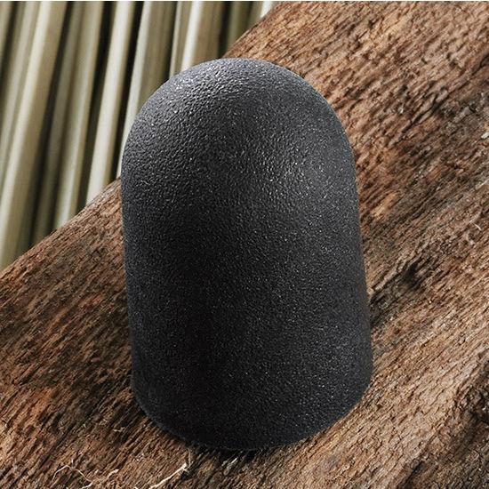 Hafele HA-138.82.301 Rubber Round Knob in Black, 17mm (5/8'') Diameter