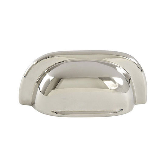 Hafele Mulberry Collection 3'' W Cup Handle in Polished Nickel, 77mm W x 20mm D x 34mm H