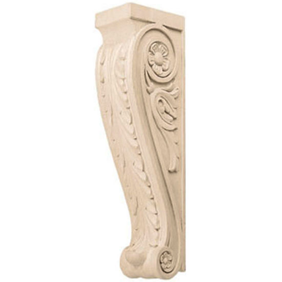 Hafele Acanthus Collection Corbel Hand Carved Acanthus Design, 13-3/8'' H