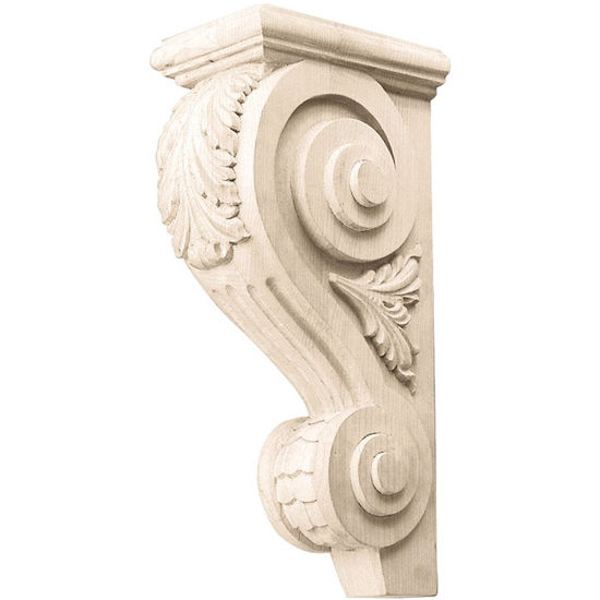 Hafele Acanthus Collection Corbel Hand Carved Acanthus Design, 14'' H