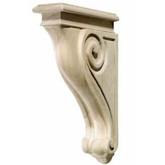 Hafele Scroll Collection Corbel, Rosette, 2-7/8'' W x 9-3/16'' D x 13'' H