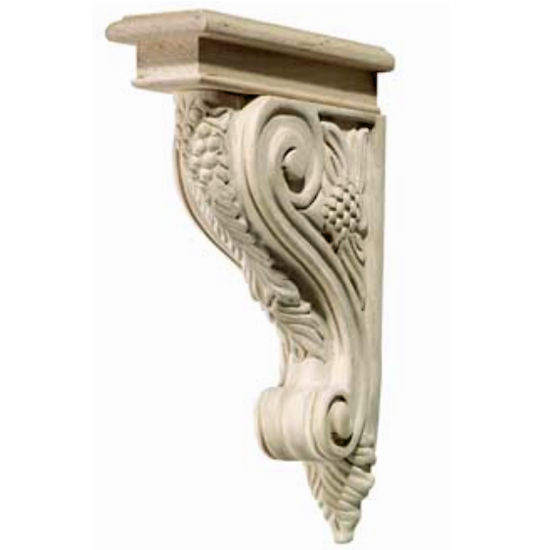 Hafele Bordeaux Collection Corbel, Grape, 2'' W x 9-3/16'' D x 12-3/4'' H