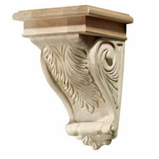 Hafele Acanthus Collection Corbel, 5-3/4'' W x 6-1/16'' D x 9'' H