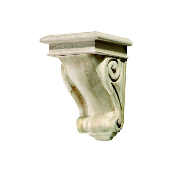 Hafele Scroll Collection Corbel, Rosette, 5-3/4'' W x 6-1/16'' D x 9'' H