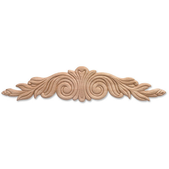 Hafele Ornament, Embossed Plywood, 14-1/4'' W x 7/32'' D x 3-1/8'' H, White Hardwood