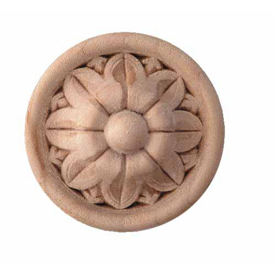 Corbels Wood Ornament Round Flower Turned Embossed
