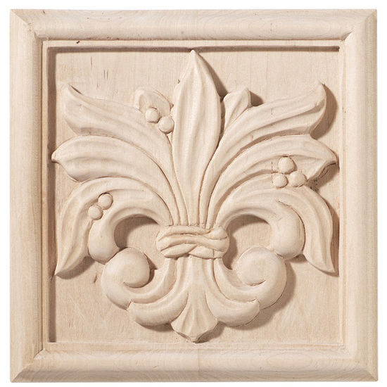 Hafele Chateau Collection Onlay, Hand Carved, Leaves Motif, Maple