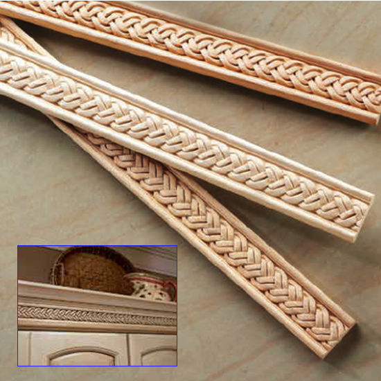 Hafele Rattan Collection Moulding, Hand Carved, Braid, 96'' W