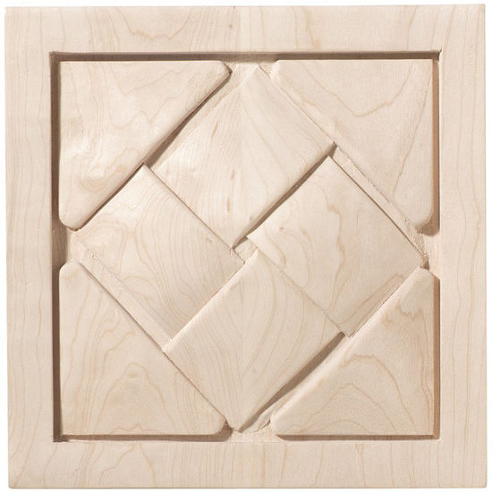 Hafele Cottage Collection Onlay, Hand Carved, Basket Weave, Maple