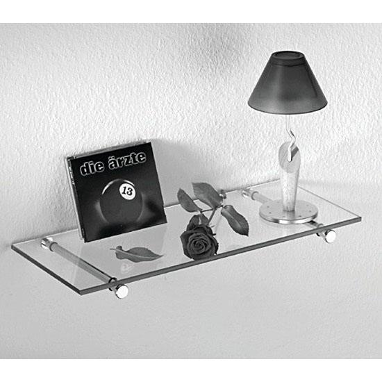 Hafele Support for Glass Shelves, 20mm W x200mm Dmm , Brushed Matt, Each