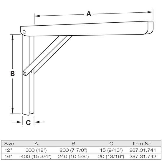 Support Brackets Heavy Duty Folding L Bracket Steel