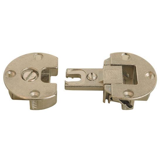 Hafele 90° Flap Hinge in Nickel Plated, 35mm (1-3/8'') Diameter