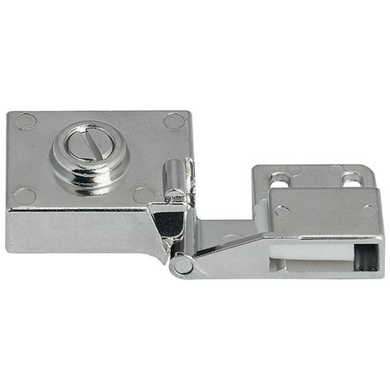 Hafele 180° All Metal Inset Glass Door Hinge in Textured Chrome Plated Matt, 40mm (1-5/8'') W