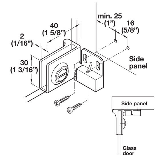 Ha 36193240 non bore all metal glass door cabinet hinge with 180 40mm 1 58 w x 30mm 1 316 h planetlyrics Image collections