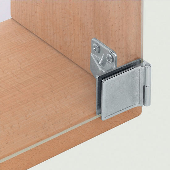 Ha non bore all metal glass door cabinet hinge for Glass cabinet hinges