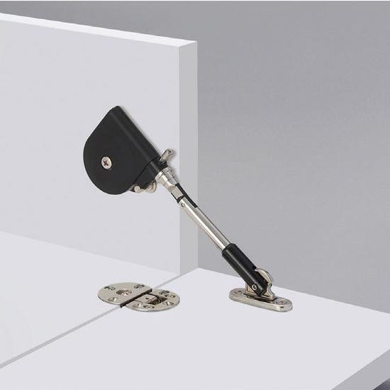 Short Arm Cabinet Flap Stay Reversible Black Nickel