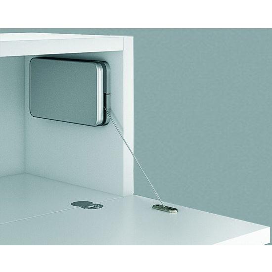 Hafele Miniwinch Flap Stay for Wood Doors, Plastic, Silver colored matt