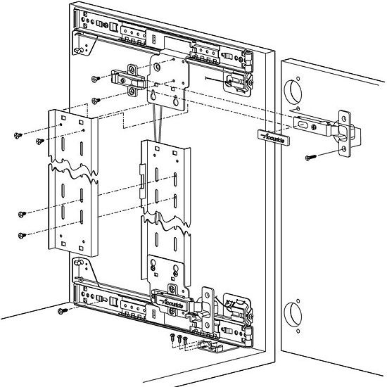Accuride Pocket Flipper Door System Cb1332 Flush Inset