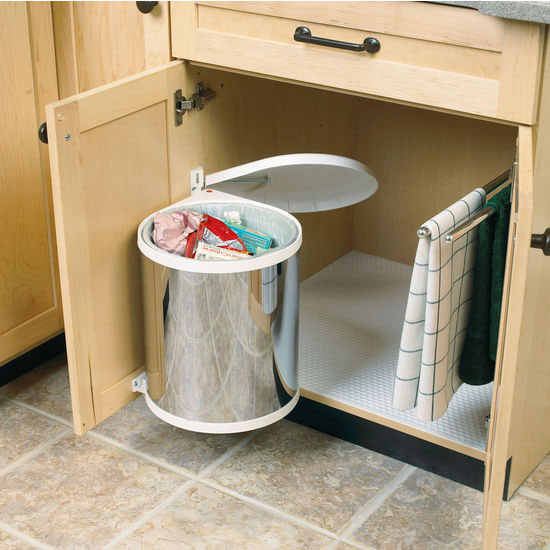 Hafele Built-In Pivot-Out Waste Bin for Swing Out Behind Door