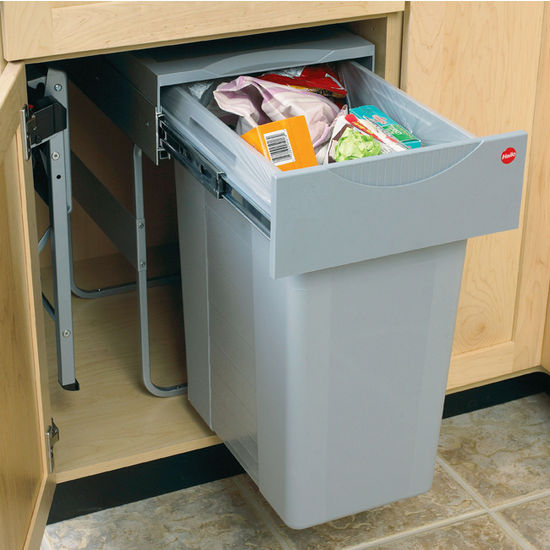 Kitchen cupboard bin pull out kitchen cabinets - Ikea pull out trash bin ...